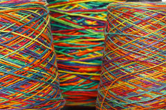 Multicolored yarn roll Royalty Free Stock Photo