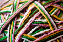 The multicolored yarn used for knit clothes Royalty Free Stock Image
