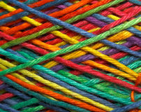 Multicolored yarn roll Stock Photography