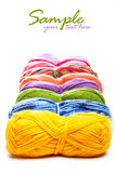 Multicolored yarns Royalty Free Stock Photography