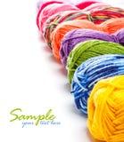 Multicolored yarns Royalty Free Stock Photos