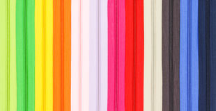 Multicolored zipper closeup Royalty Free Stock Photos