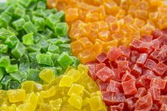 Multicolores succade, 4颜色 图库摄影