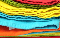Multicolorful napkins Stock Photo