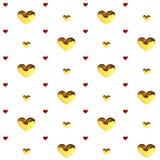 Multicolorido vermelho do rosa da decoração dos corações do amor Relacionamento feliz romântico da alegria Conceito do teste padr Fotografia de Stock Royalty Free