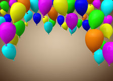 Multicolors balloons Royalty Free Stock Image