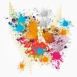 Multicolors grunge patern ελεύθερη απεικόνιση δικαιώματος