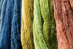 Multicolors thread silks dye Royalty Free Stock Images
