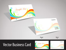 Multicolors wave theme visiting cards. Elegant wave background business card or colorful wave concept vector visiting card or business card for corporate or Stock Photos