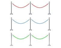 Multicolour веревочка барьера крупного плана Стоковое Фото