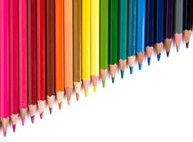 Multicolour карандаши установили изолированный на белой предпосылке Стоковые Изображения RF