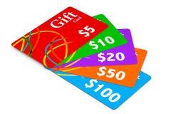 Multicolour карточки подарка Стоковые Фотографии RF