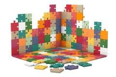 Multicolour конструкция стены и пола головоломки Стоковое Изображение RF