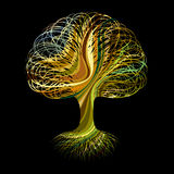 Multicolour abstract tree Stock Image