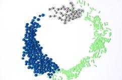 multicolour abstrakt hjärta Royaltyfria Bilder