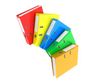 Multicolour Achive Office Binders. On a white background Royalty Free Stock Image