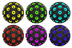 Multicolour Audio Speakers as Sphere. 3d Rendering Stock Photo