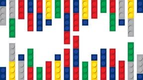 Multicolour bakgrund för byggnadskvarter stock illustrationer