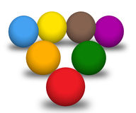 Multicolour balls Stock Photos