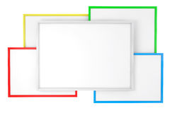 Multicolour Blank Classroom Whiteboards Royalty Free Stock Image