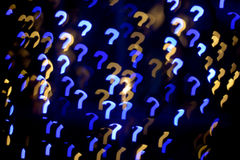 Multicolour bokeh question mark  shape Royalty Free Stock Photo
