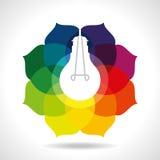 Multicolour business idea with light bulb Stock Photos