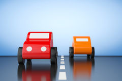 Multicolour Cartoon Toy Cars Stock Image
