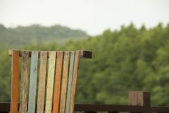 Multicolour chair and Background blurred Royalty Free Stock Photo