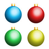 Multicolour christmas balls. Isolated on white background Royalty Free Stock Images