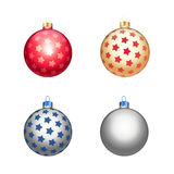 Multicolour christmas balls. Isolated on white background Stock Image