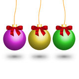 Multicolour christmas balls Royalty Free Stock Images