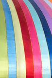 Multicolour cloth. The background of multicolour silk cloth stock photos