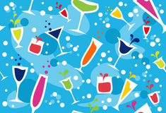 Multicolour cocktail pattern Royalty Free Stock Photo