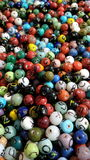 Multicolour colorfully planlagda spherers arkivfoto