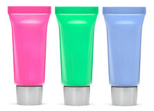 Multicolour Cosmetic tubes Royalty Free Stock Photography