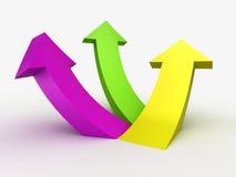 Multicolour 3D arrows, logo design Stock Image