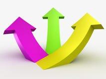 Multicolour 3D arrows, logo design Royalty Free Stock Image