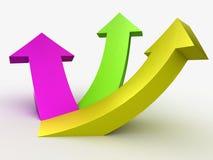 Multicolour 3D arrows, logo design. 3D arrows, logo design on the white Stock Photo