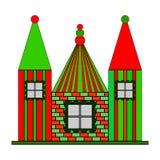 Multicolour design castle. Vector art Royalty Free Stock Photography