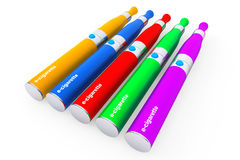 Multicolour Electronic Cigarettes Royalty Free Stock Images