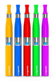 Multicolour Electronic Cigarettes Royalty Free Stock Photo