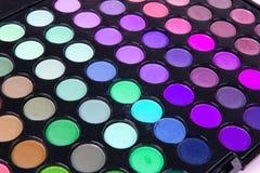 Multicolour eyeshadows palette Royalty Free Stock Photo