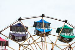 Multicolour ferris wheel in Chiang Mai ,Thailnd.  stock photography