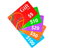 Multicolour Gift Cards Stock Photos