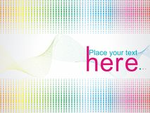 Multicolour halftone background. A multicolour halftone abstract background Royalty Free Stock Images
