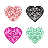 Multicolour hjärtamodelluppsättning royaltyfri illustrationer