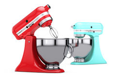 Multicolour Kitchen Stand Food Mixers. 3d Rendering Royalty Free Stock Images