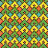 Multicolour Knitted Seamless Geometric Pattern Royalty Free Stock Photography