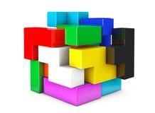Multicolour kubsvårt problemlek vektor illustrationer