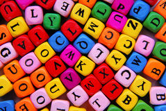 Multicolour letters. Closeup of the multicolour letters royalty free stock photo